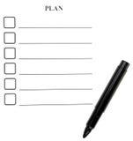 formularzowy planowanie zdjęcia stock