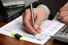 formularzowy podatek dochodowy Fotografia Royalty Free
