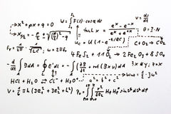Formulas Stock Photo