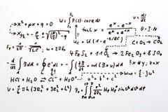 Formulas stock photo
