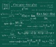 Formulas background Royalty Free Stock Images