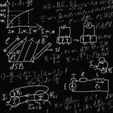 Formulas on black Stock Photos