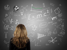 Formulas and math Royalty Free Stock Photo