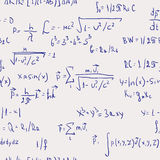Formulas - seamless abstract background Stock Photography