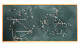 Formulas written Royalty Free Stock Image