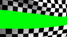 Formule 1 à carreaux de drapeau de fond clips vidéos