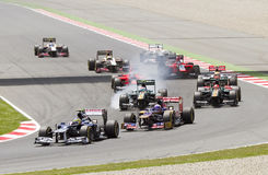 Formule 1 auto's het rennen Royalty-vrije Stock Fotografie