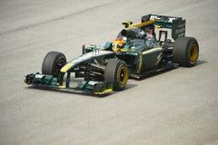 Formule 1 de lotus emballant l'équipe photos libres de droits