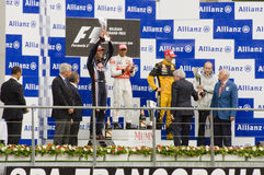 Formule 1 de Winnaars van het Ras Stock Afbeelding