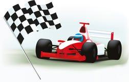 Formule 1 en geruite vlag Stock Foto