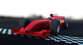 Formule 1 het rood van de Sportwagen vector illustratie