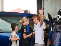 Formule 1, Sebastian Vettel, het Rennen van Red Bull van het team Royalty-vrije Stock Foto