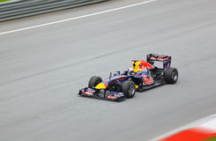 Formule 1, Sebastian Vettel, team Red Bull Royalty-vrije Stock Afbeeldingen
