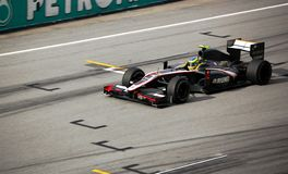 Formule 1 Sepang 2010 - Hispania emballant l'équipe Images stock