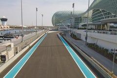 Formule 1 van de Jachthaven van Yas renbaan Royalty-vrije Stock Foto's