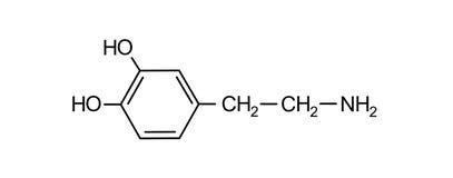 formule chimique de dopamine Photos libres de droits