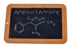 Formule chimique des amph?tamines images stock