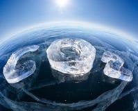 Formule chimique glaciale du CO2 de dioxyde de carbone photos libres de droits