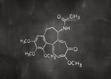 Formule chimique sur le tableau Image stock