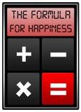 Formule de bonheur Photo libre de droits
