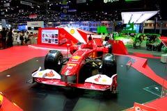 Formule 1 de Ferrari sur l'affichage Photos libres de droits