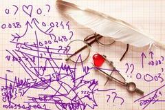 Formule de l'amour Images libres de droits