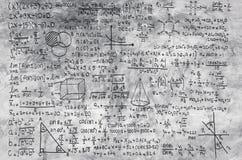 Formule de maths sur le fond gris Images libres de droits