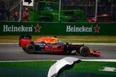 Formule 1 de Red Bull à Monza conduit par Daniel Ricciardo Images stock