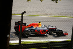 Formule 1 de Red Bull à Monza conduit par Max Verstappen Image libre de droits