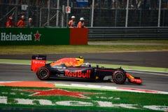 Formule 1 de Red Bull à Monza conduit par Max Verstappen Images libres de droits
