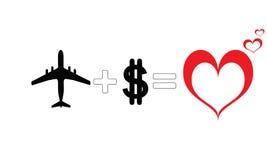 Formule de voyage d'amour illustration de vecteur