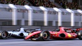 Formule 1 die Concept Car rennen royalty-vrije illustratie