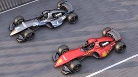 Formule 1 die de hoogste mening van Concept Car rennen stock illustratie