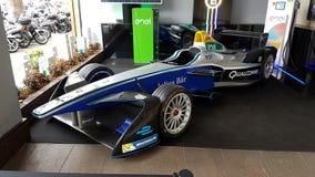 Formule E, voiture de course d'Enel Images libres de droits