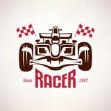 Formule 1 embleem, rasbolide royalty-vrije illustratie
