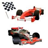 Formule 1 - gekleurde illustratie Stock Foto