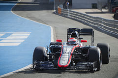 Formule 1, 2015 : Jenson Button, McLaren-Honda Images stock