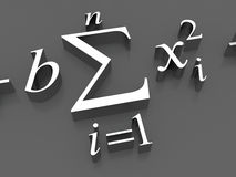 Formule matematiche Fotografie Stock