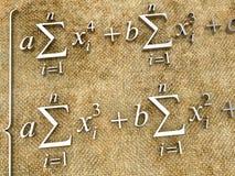 Formule matematiche Immagini Stock