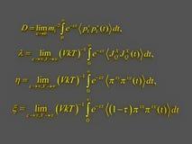 Formule matematiche Immagine Stock