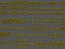 Formule matematiche Immagini Stock Libere da Diritti