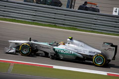 Formule 1 Mercedes Car de la photo F1 : Lewis Hamilton Photographie stock
