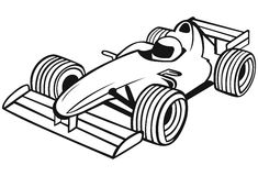 Formule 1 Raceauto stock illustratie