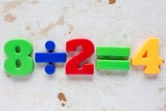 Formule simple de division Photos libres de droits