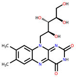 Formule structurale de riboflavine Images stock