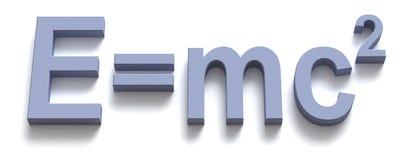 Formule van energie Stock Foto