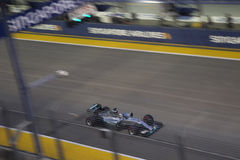 Formule 1 van Singapore Kwalificerend Ras Stock Foto's