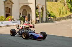 Formuleauto's bij de Historische Grand Prix 2017 van Bergamo royalty-vrije stock fotografie