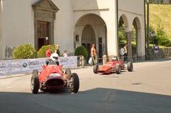 Formuleauto's bij de Historische Grand Prix 2017 van Bergamo stock foto's