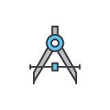 Formulera den kompass fyllda översiktssymbolen royaltyfri illustrationer